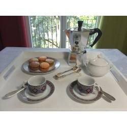 Tasse pour petit déjeuner en porcelaine 5 cl, blanche