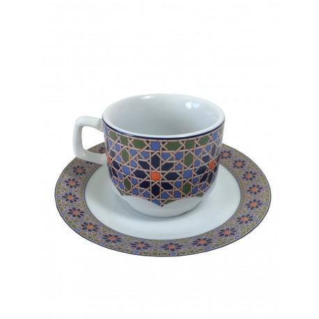 Tasse à café ensemble 5 cl blanc