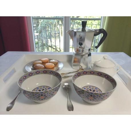 Bol pour petit déjeuner en porcelaine 20 cl, blanc