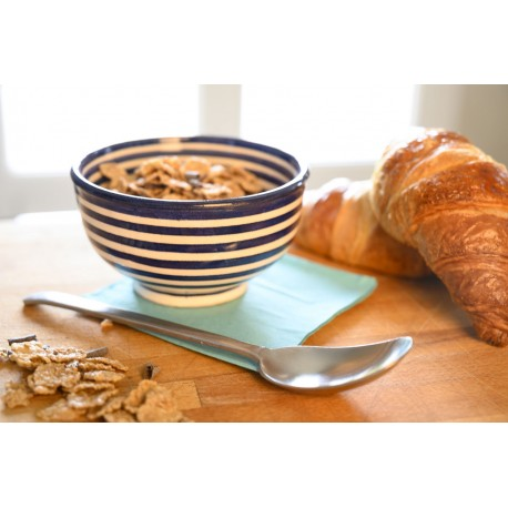 Bol pour petit déjeuner en céramique 30 cl, bleu