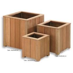 Jardinière en bois carrée 30 x 30 x 30 cm