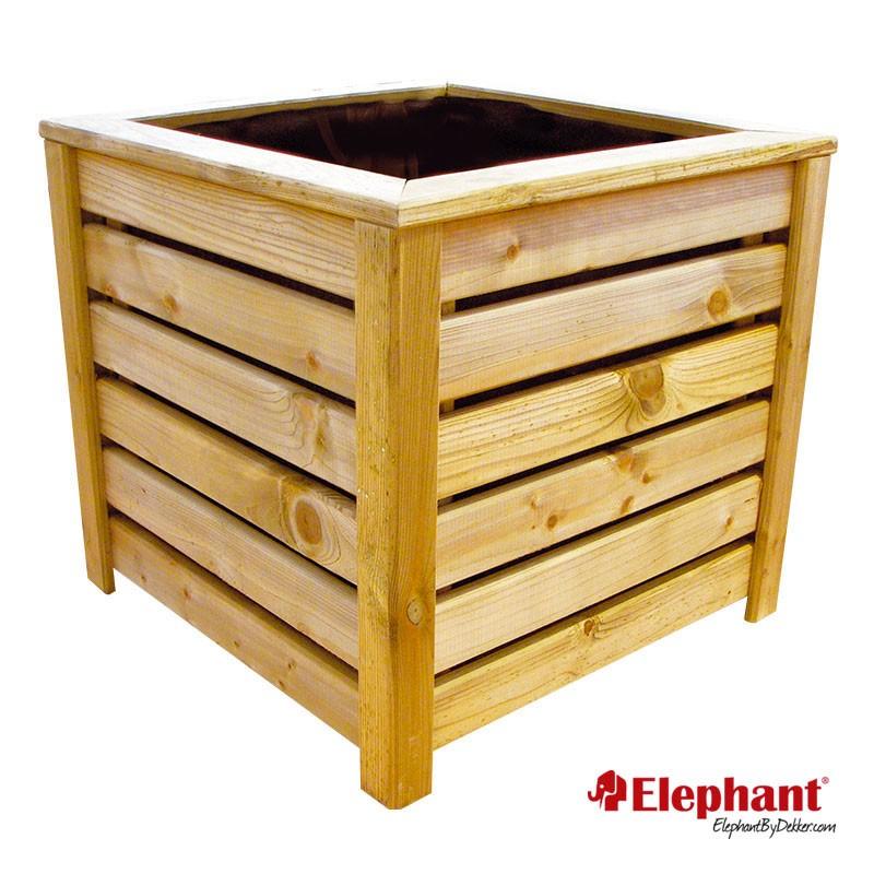 Jardini re en bois carr e 50 x 50 x 50 cm - Jardiniere bois ...