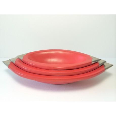 Vide poche terre cuite ensemble rouge