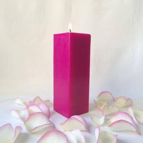 bougie artisanale parfumée carrée h : 20 cm