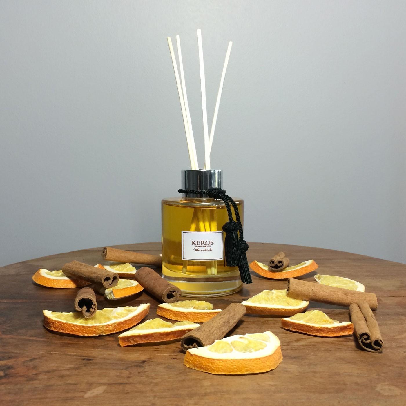 Achat diffuseur de parfum d ambiance et ses tiges rotin for Parfum d interieur fait maison