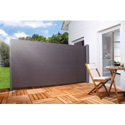 Store latéral rétractable de terrasse en PVC gris anthracite 300 x 160 cm