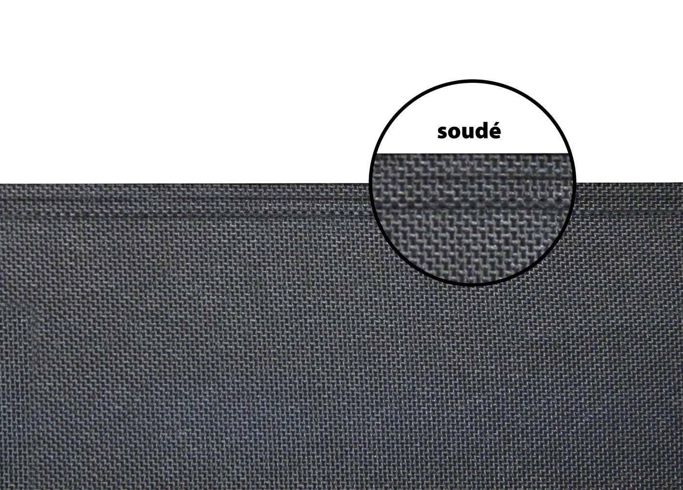 Remarquable Store latéral rétractable de terrasse en PVC gris anthracite 300 x OZ-64