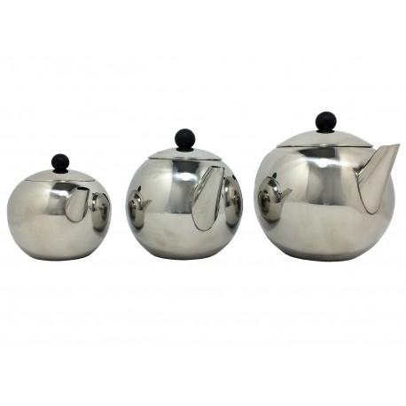 Théière inox rondo 3 modèles