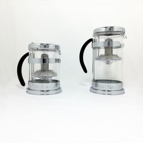Théière design en verre 2 modèles