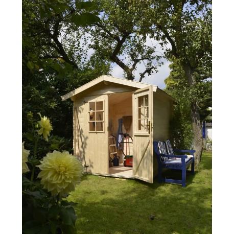 Abri de jardin bois 3,45 m2 en situation 2