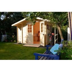 Abri de jardin bois 4,24 m2 d'épaisseur 19 mm, 2,10 x 1,8 m