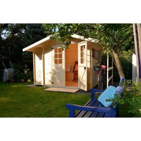 Abri de jardin bois 4,24 m2 en situation