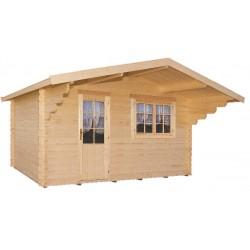 Abri de jardin bois 10,25 m2 d'épaisseur 28 mm, de 3,80 x 2,80 m