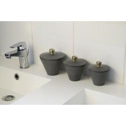Accessoires salle de bain en tadelakt