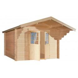 Abri de jardin bois 8,64 m2 d'épaisseur 28 mm, de 3 x 3 mm