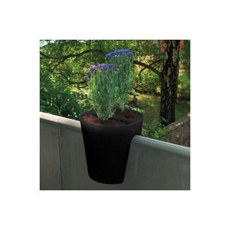Jardinière en polyéthylène ronde Steckling 30 x 30 x 30 cm noir