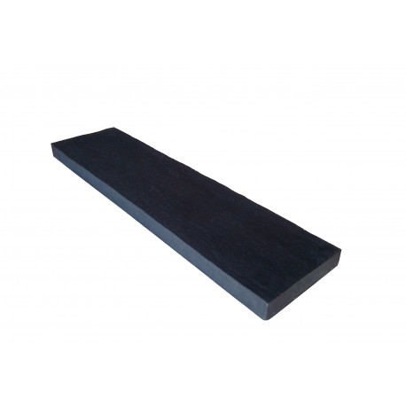 Lame terrasse schiste champ lisse noir 80 x 20 cm Ep. 4 cm