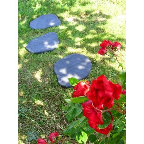 Pas japonais de jardin en pierre reconstituée 32 x 41 x 4 cm schiste