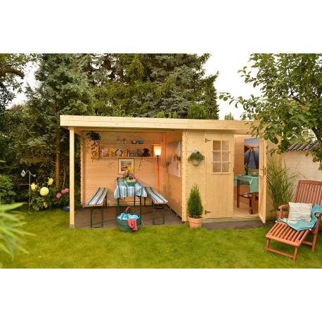Abri de jardin bois 3 45 m2 et pergola - Abri de jardin pergola ...