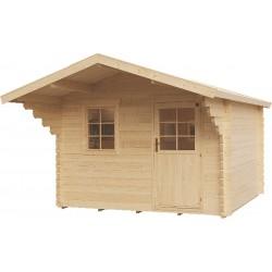 Abri de jardin bois 9,92 m2 d'épaisseur 44 mm, de 3,50 x 3 mm