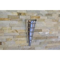 Applique murale conique en aluminium