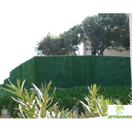Haie artificielle de jardin en PVC 126 brins Supra 300 x 100 cm