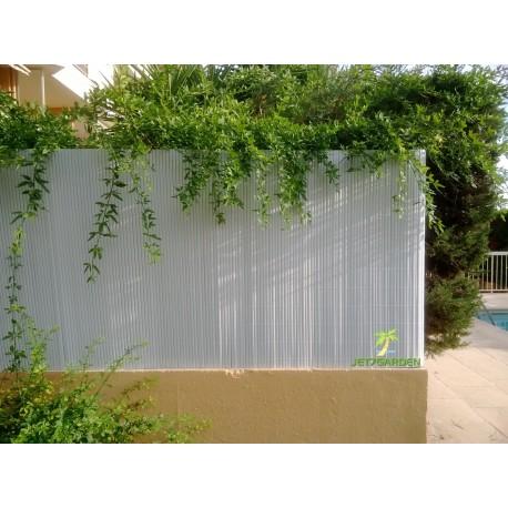 Canisse de jardin en PVC 300 x 120 cm blanc