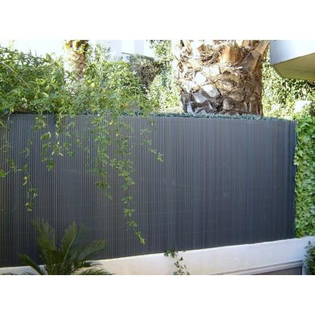 Canisse de jardin en PVC 300 x 120 cm gris anthracite