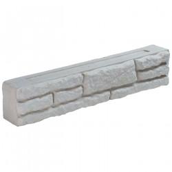 Bloc muret en pierre reconstituée 50 x 9 x 10 cm blanc