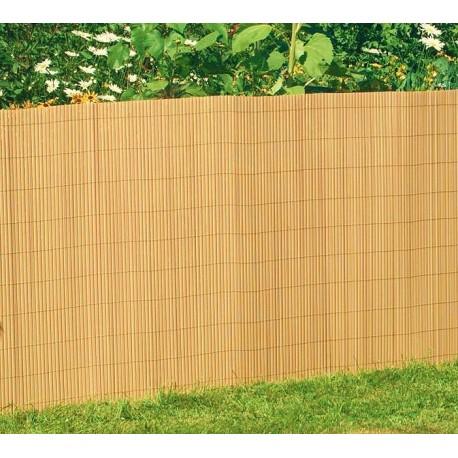 Canisse en PVC 1,2 x 3 ml bambou de face