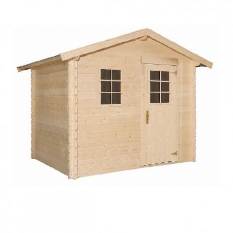 Abri de jardin bois 4,51 m2 d'épaisseur 19 mm, de 2,60 x 1,80 m