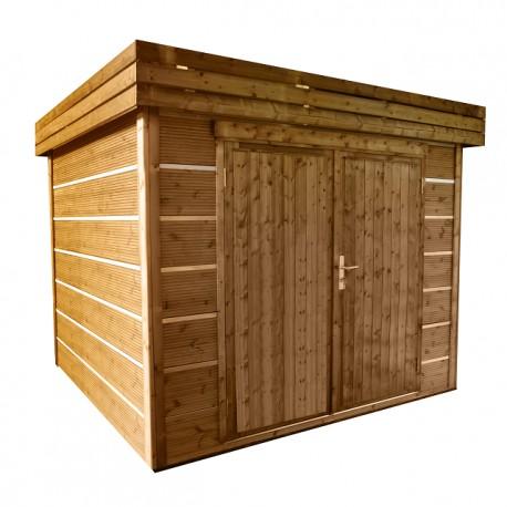 Abri de jardin bois 6,17 m2 d'épaisseur 27 mm, de 2,53 x 2,44 m
