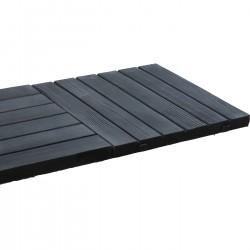 Dalle de terrasse en pierre reconstituée aspect bois 45 x 45 x 3,5 cm graphite