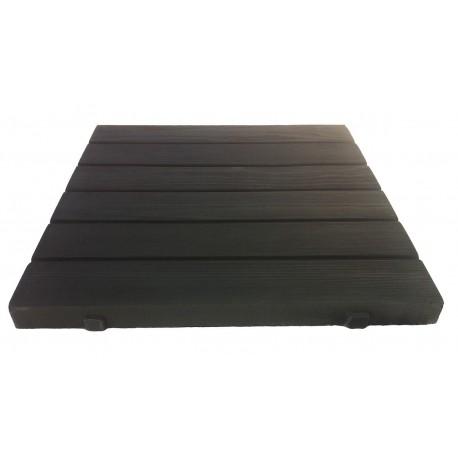 dalle terrasse pierre aspect bois noir. Black Bedroom Furniture Sets. Home Design Ideas