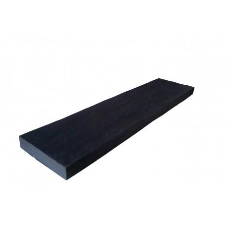 Lame terrasse schiste champ travaillé noir 80 x 20 cm Ep.4cm