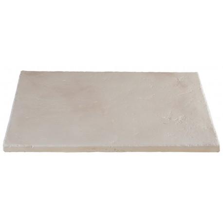 Dalle de terrasse en pierre reconstituée ep. 2,5 cm blanc nuancé, module de 1,15 m2