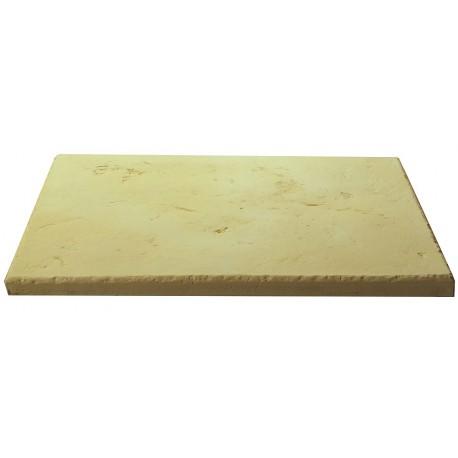 Dalle de terrasse en pierre reconstituée ep. 2,5 cm camel, module de 1,15 m2