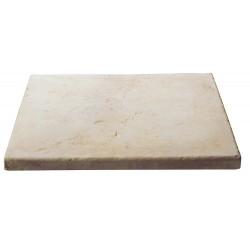 Dalle de terrasse en pierre reconstituée ep. 2,5 cm ocre nuancé, module de 1,15 m2