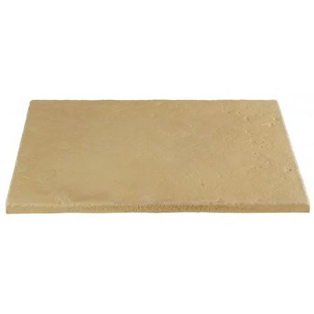 Dalle de terrasse en pierre reconstituée ep. 2,5 cm camel nuancé, module de 1,15 m2