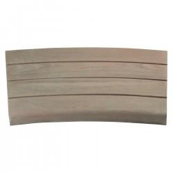 Margelle en pierre reconstituée courbe aspect bois 41 x 29,5 x 3,5 cm