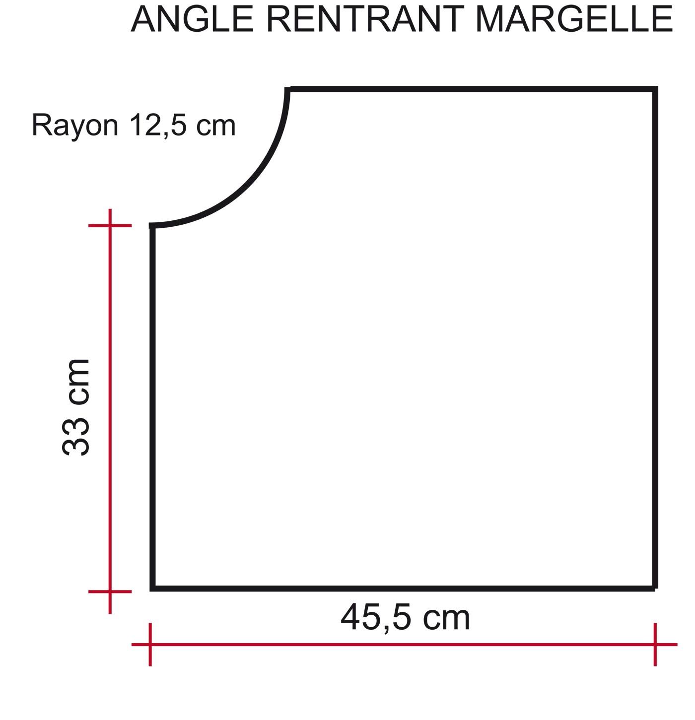 Margelle Pierre Reconstituée Plate Angle Rentrant 4 cm Blanc Nuancé