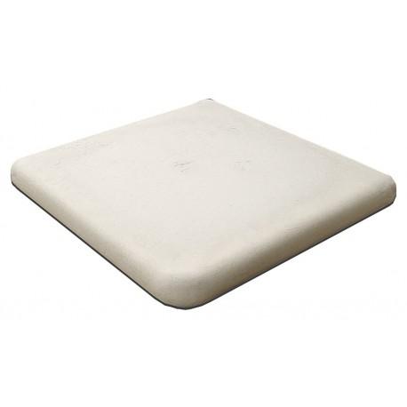 Margelle en pierre reconstituée plate angle sortant 33 x 33 x 4 cm blanc