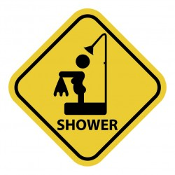 Home sign humour shower