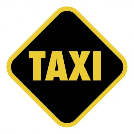 HOME SIGN HUMOUR TAXI