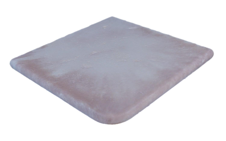 Kit Margelle de Piscine en Pierre Reconstituée avec Escalier Blanc Nuancé 2 5 cm 6 x 12 ml Plate
