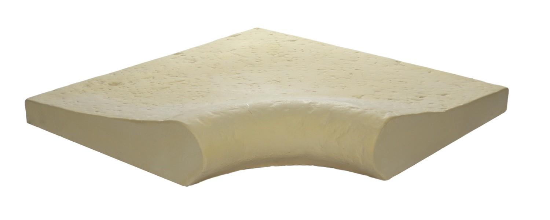Margelle pierre reconstitu e galb e angle rentrant 4 cm camel - Pierre reconstituee piscine ...