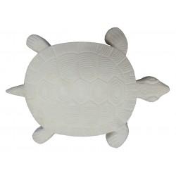 Pas japonais de jardin en pierre reconstituée animaux tortue blanc 30 x 28 x 3 cm