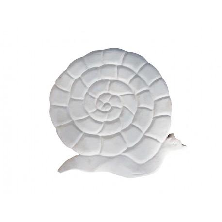 Pas japonais en pierre reconstituée animaux escargot de face