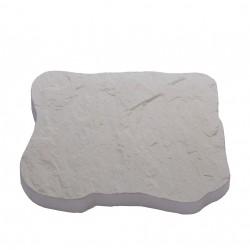 Pas japonais de jardin en pierre reconstituée ardoisé blanc 31 x 26 x 3 cm