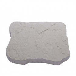Pas japonais en pierre reconstituée ardoisé blanc